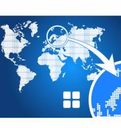 stylish world map square vector image