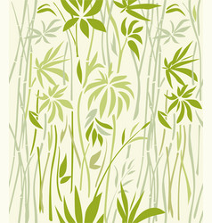 texture of bamboo thickets on a light background vector image