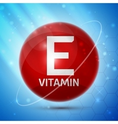 Vitamin E icon vector image