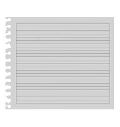 Color notebook paper icon vector
