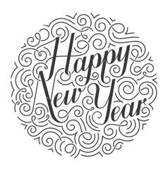 Happy New Year Christmas card Original vector image vector image