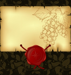 paper with wax seal vector image
