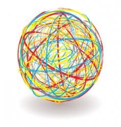 scribble ball vector image vector image