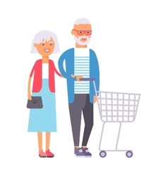 shopping couple vector image