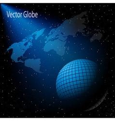 stars sky globe vector image vector image