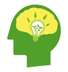 Think go green vector image
