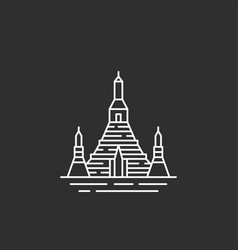 thailand landmark in outline style vector image vector image