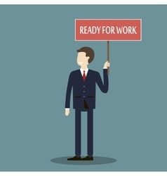 Businessman Ready for Work vector image