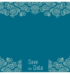 Greeting card template for wedding or birthday vector image vector image