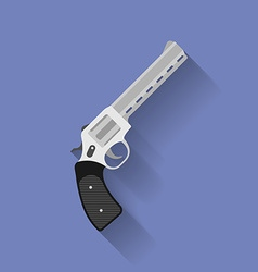 Icon of revolver pistol gun Flat style vector image vector image