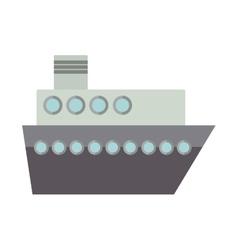 Silhouette boat for transport merchandise vector image