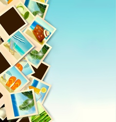 Travel Background With Photos From Holidays On A vector image
