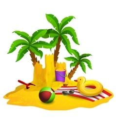 Beach Rest Background vector image vector image
