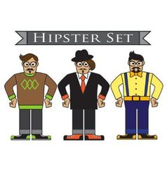 Cartoon hipsters vector image vector image