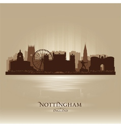 Nottingham England skyline city silhouette vector image vector image
