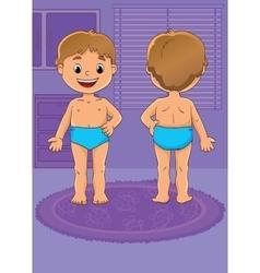 Of Scheme Boy Body vector image