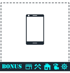 Smartphone icon flat vector image