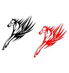 Tribal horses for tattoo design vector image