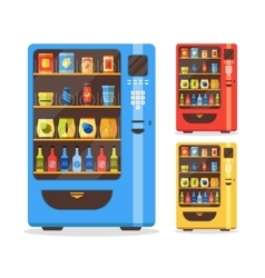 Vending Machine Set with Food and Drink vector image vector image