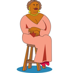 woman sitting chair vector image vector image