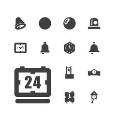 13 alarm icons vector