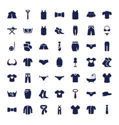 49 textile icons vector