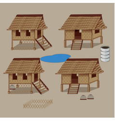 Asian hut vector