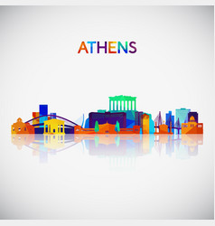 Athens skyline silhouette vector