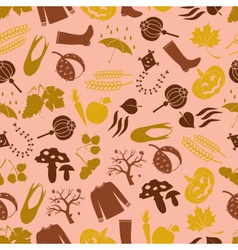 Autumn color icons seamless pattern eps10 vector