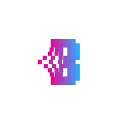 b letter pixel bit logo icon design vector image