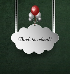 Background With School Blackboard vector