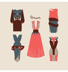 Beautiful woman dresses eps 10 vector image