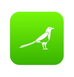 bird magpie icon digital green vector image