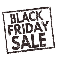 black friday sale sign or stamp vector image
