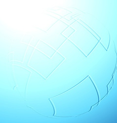 Blue abstract sphere background template vector