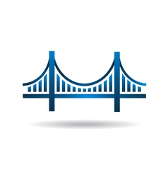 Bridge Blue Icon Logo vector