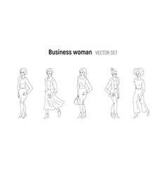 business woman sketch style vector image