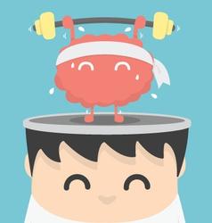 businessman exercising brain vector image