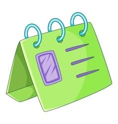 Calendar icon cartoon style vector