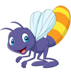 Cartoon funny firefly vector