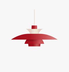 Ceiling lamp for scandinavian interior classic vector