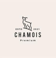 chamois line logo icon vector image