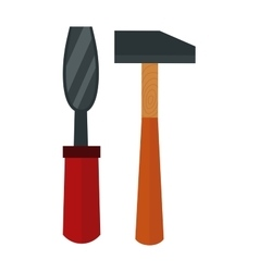 Chisel hammer vector image