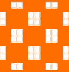 chocolate piece pattern seamless vector image