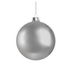 christmas ball handing on string xmas baub vector image