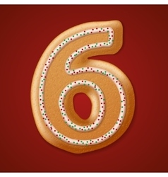 Christmas cookies numbers vector image