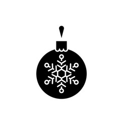 christmas decoration ball black icon sign vector image