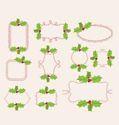Christmas doodle frames vector