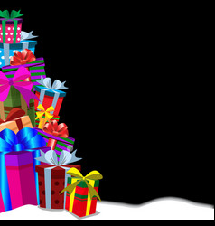 christmas or new year gifts greeting card vector image