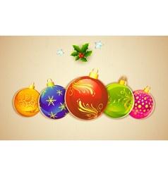 colorful christmas vector image